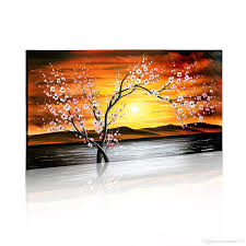 art painting for home decoration modern wall art flower painting home decoration handmade flower