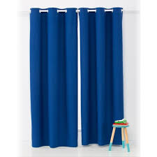 Curtain Pair Navy Block Out Eyelet Curtain Pair Kmart