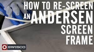 Anderson Replacement Screen Door by How To Re Screen An Andersen Window Screen 1080p Youtube