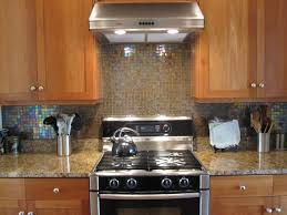 backsplash ideas for kitchen with blue glass tile kitchen