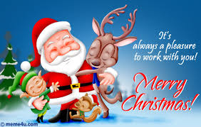pleasure working working with you christmas ecard cute christmas