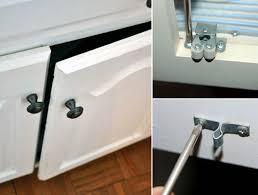incompetent cabinet doors a hack to keep u0027em closed rental kitchen