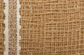 burlap and lace ribbon white lace ribbon on brown mesh material burlap