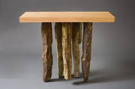 Wood Entry Table Basalt Table And Hardwood Table Seth Rolland