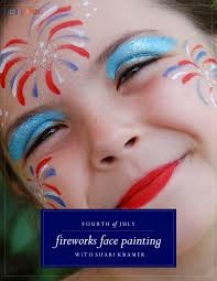 fireworks face painting tutorial 4thofjuly facepainting kids