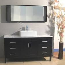 Golia 60 Vanity Modero 73 In Double Vanity With Carrera White Marble Top And 2