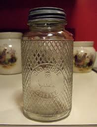 vintage glass canisters kitchen anitque old judge coffee jar owl on branch picture canister jar