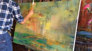 abstract painting by george miller youtube