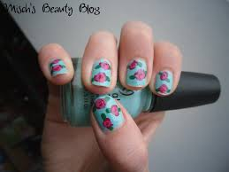nail design roses nail arts