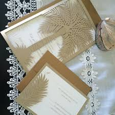 palm tree wedding invitations custom laser cut wedding invitation palm tree tropical