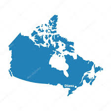 Canada Blank Map by Blue Similar Canada Map With Capital City Ottawa Canada Map Blank