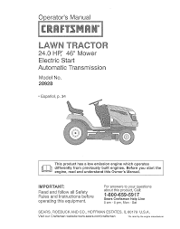 craftsman lawn mower 28928 user guide manualsonline com