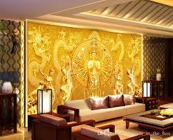 wallpaper for livingroom gold buddha photo wallpaper custom 3d wall murals avalokitesvara