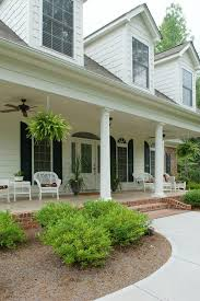 polished concrete porch traditional with white columns rectangular