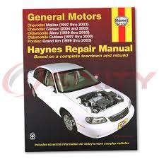 chevy malibu haynes manual de reparación tienda garaje servicio de