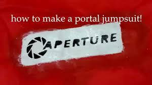 portal jumpsuit d i y how to a aperture test subject jumpsuit
