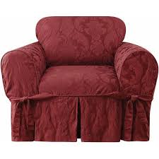 damask chair sure fit matelasse damask chair slipcover walmart