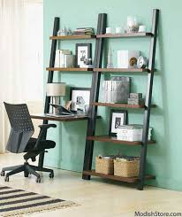 Leaning Ladder Bookcase by Furniture Reclaimed Wood Ladder Shelf Ladder Shelf Bookcase