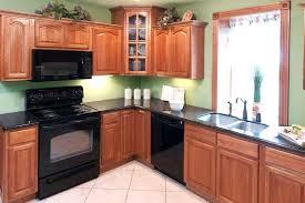 kitchen cabinets traditional dark wood walnut color tile floor