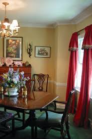 dining room yellow walls with red drapes dining room grand