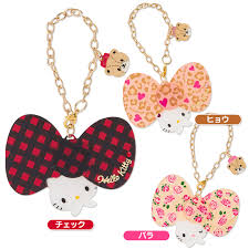 hello ribbon hello bag charm casual ribbon leopard sanrio japan japan