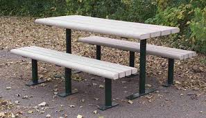 Picnic Table With Benches Greenwood Recycled Plastic Picnic Table Occ Outdoors