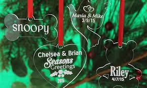up to 77 personalized acrylic ornaments groupon