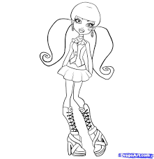 monster high drawing book how to draw draculaura step by step