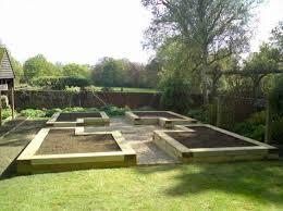 raised garden layout plans sleepers gardening ideas garden
