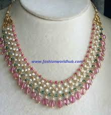 drop beads necklace images Light weight bead necklace fashionworldhub jpg