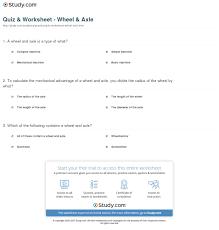 resume tips and exles quiz worksheet wheel axle study