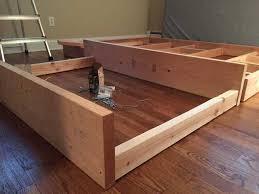 diy floating bed frame how to build a diy floating bed frame with