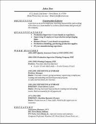 construction resume sample experience resumes