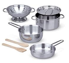 doug stainless steel pots and pans pretend