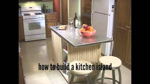 how to build a kitchen island designs youtube