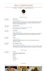 Chef Resume Objective Head Chef Resume Samples Visualcv Resume Samples Database