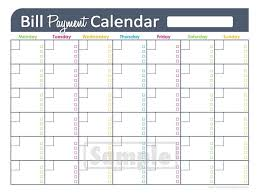 Payment Schedule Excel Template Monthly Payment Calendar Template Calendar Templates