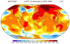 temperature map april breaks global temperature record