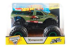 monster jam toys trucks amazon com wheels monster jam 1 24 scale xtermigator vehicle