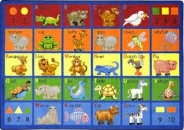 Animal Area Rug Animal Phonics Area Rugs For Learner Supply