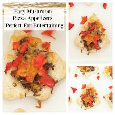 easy mushroom pizza appetizers perfect for christmas entertaining