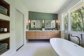 Mid Century Modern Vanity Mid Century Modern Bathroom Vanity White Finish Varnished Wooden