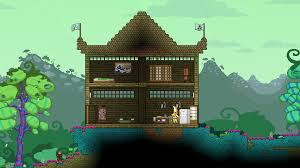 i tried my best to make a tiny hylotl themed house starbound
