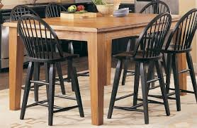 Attic Heirlooms Black  Piece Set Counter Kitchen Furniture - Oak counter height dining room tables