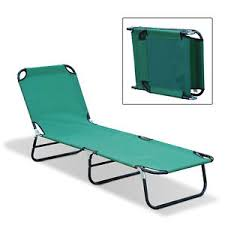 outdoor sun chaise lounge recliner patio camping cot bed beach