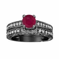 0 87 carat ruby u0026 engagement ring wedding anniversary band