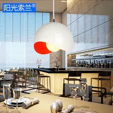 lustre pour bureau moderne simple éclairage en aluminium orange lustre pour salle