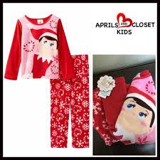 boutique on the shelf fleece pajamas set from april s closet