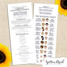 sunflower wedding programs 15 best wedding ceremony programs images on wedding