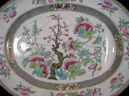 antique minton indian tree platter with well circa 1888